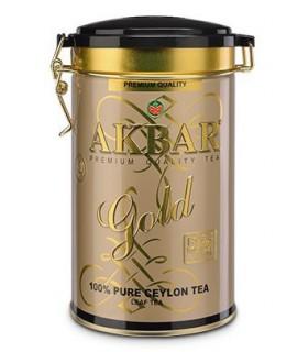 Akbar چای طلایی جعبه فلزی 450 گرمی اکبر