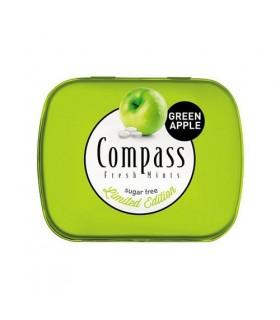 Compass قرص خوشبو کننده دهان سیب سبز 50 عددی کامپس
