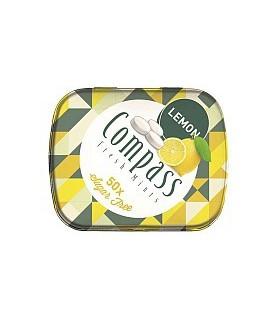 Compass قرص خوشبو کننده دهان لیمو 50 عددی کامپس