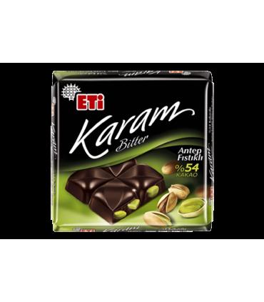 Eti شکلات پسته ای 54%  70 گرمی کارام اتی
