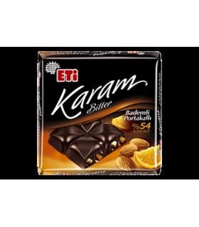 Eti شکلات تلخ 54% پرتقالی 70 گرمی کارام اتی