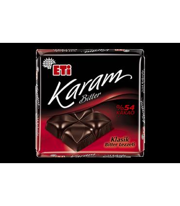 Eti شکلات تلخ 54% 70 گرمی کارام اتی