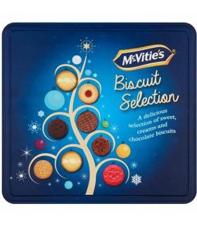 Mcvities جعبه فلزی بیسکویت سلکشن کریسمس 400 گرمی مک ویتیز