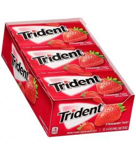 Trident پک 12 عددی آدامس توت فرنگی تریدنت