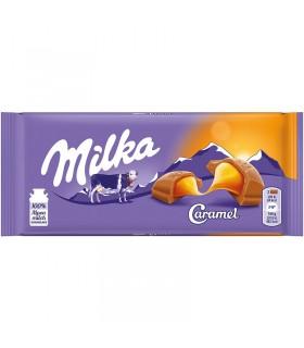 Milka شکلات شیری کاراملی 100 گرمی میلکا
