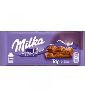 Milka شکلات شیری تریپل چوکو کاکاو 90 گرمی میلکا