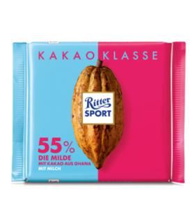Ritter Sport شکلات 55% اسموت 100 گرمی ریتر اسپرت