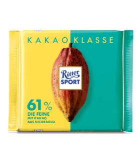 Ritter Sport شکلات 61% فاین 100 گرمی ریتر اسپرت