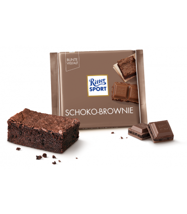 Ritter Sport شکلات براونی شکلات 100 گرمی ریتر اسپرت