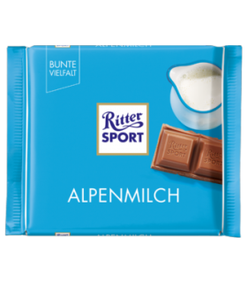 Ritter Sport شکلات شیری 30% آلپاین 100 گرمی ریتر اسپرت