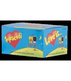 Love Is پک آدامس توت فرنگی و موز 100 عددی لاو ایز