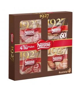 Nestle پک 4 عددی شکلات تلخ 80 گرمی 1927 و نستله