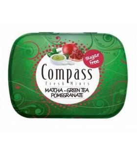 Compass قرص خوشبو کننده دهان ماچا و چای سبز و انار 50 عددی کامپس