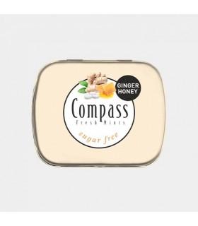 Compass قرص خوشبو کننده دهان زنجبیل و عسل 50 عددی کامپس