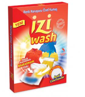 Izi wash دستمال ضد رنگ دهی لباس 12 عددی ایزی واش
