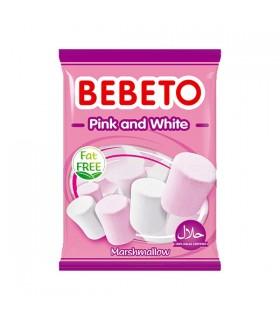 Bebeto مارشمالو سفید و صورتی 135 گرمی ببتو