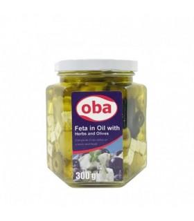 Oba پنیر فتا در روغن زیتون 300 گرمی ابا