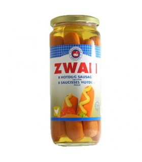 Zwan کنسرو هات داگ 520 گرمی 8 عددی زوان