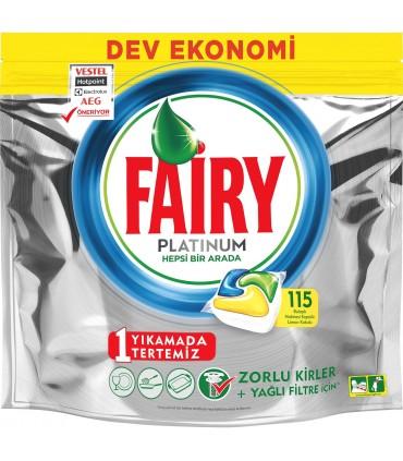 Fairy قرص ماشین ظرفشویی پلاتینوم 115 عددی فیری