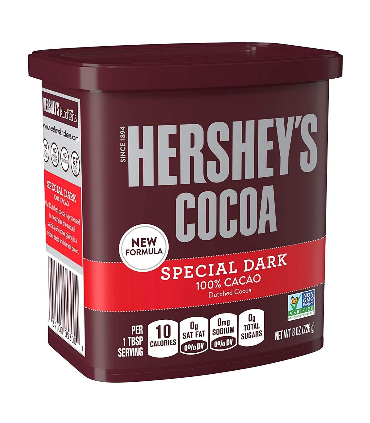 Hersheys پودر کاکائو خالص دارک مخصوص بدون شکر 226 گرم هرشیز