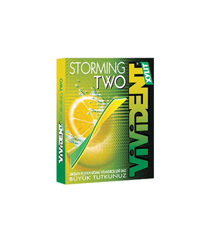 Vivident آدامس استورمینگ لیمو و طالبی زایلیتول 33 گرمی ویویدنت