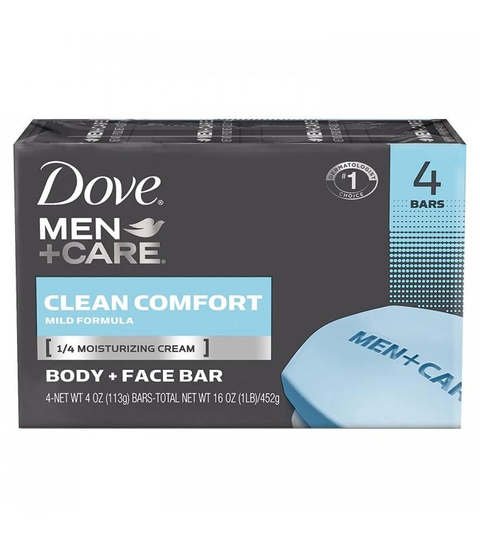 Dove پک 4 عددی صابون مراقبت مردانه کیلین کامفورت 100 گرمی داو