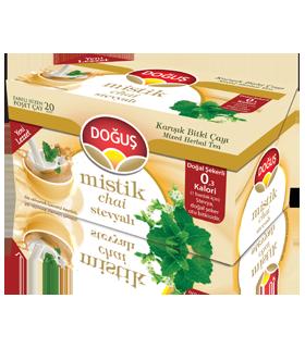 Dogus چای طعم دار شیرین شده با استویا 20 عددی دوغوش