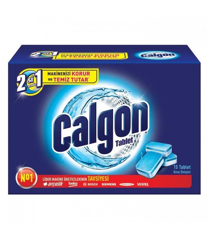 Calgon قرص جرم گیر ماشین لباسشویی دو در یک 15عددی کالگون