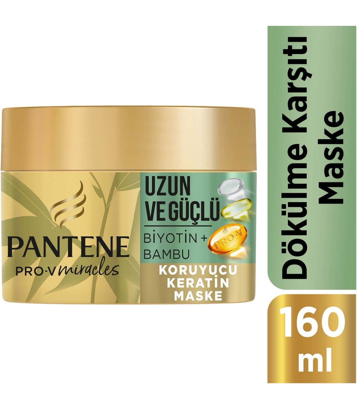 Pantene ماسک مو بیوتین و بامبو 160 میلی پنتن