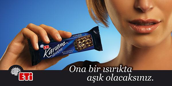 خرید ویفر شکلات تلخ اتی کارام قورمه